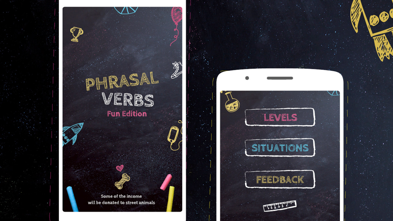 Phrasel Verbs Mobile UI / UX Design