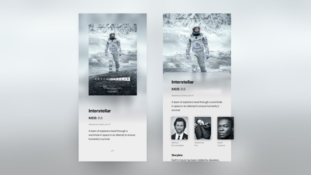 Conceptional Movie Mobile App Design