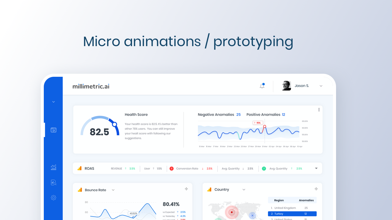 Micro animations / prototyping